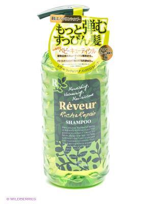Шампунь Reveur Rich & Repair. Питание и восстановление. Цвет: зеленый