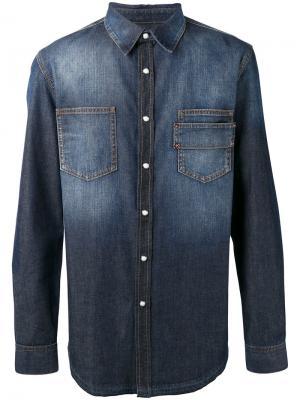 Джинсовая рубашка на пуговицах Givenchy. Цвет: синий