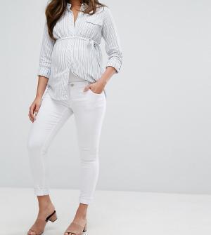 Bandia Джинсы скинни для беременных со съемной вставкой живота Mat. Цвет: белый