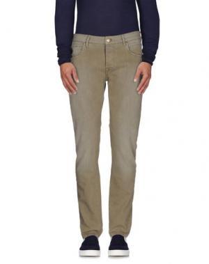 Джинсовые брюки OAKS. Цвет: зеленый-милитари