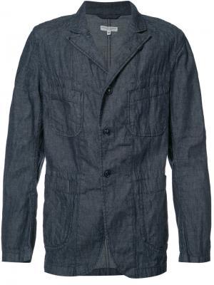 Куртка из шамбре Engineered Garments. Цвет: синий