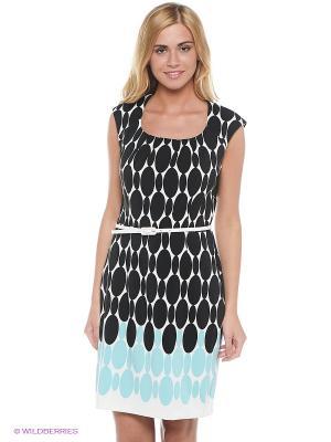 Платье London Times. Цвет: черный, голубой