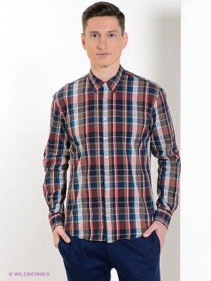 Рубашка MC NEAL. Цвет: темно-синий, коричневый