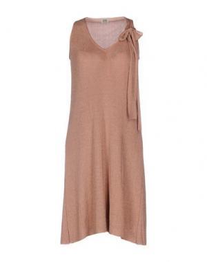 Платье до колена SIYU. Цвет: пастельно-розовый