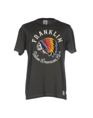 Футболка FRANKLIN & MARSHALL. Цвет: зеленый-милитари