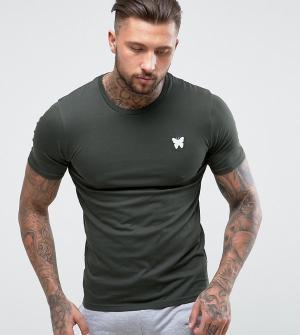 Good For Nothing Обтягивающая футболка цвета хаки с логотипом на груди. Цвет: зеленый