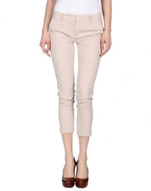 Повседневные брюки TWELVE-T. Цвет: бежевый
