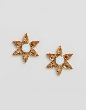 Krystal Серьги-звездочки с кристаллами Swarovski от. Цвет: золотой