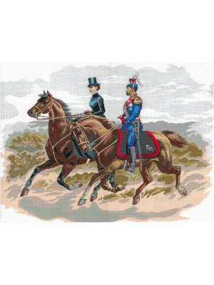 Прогулка набор для вышивания 54х42 см NITEX. Цвет: коричневый, бежевый, синий