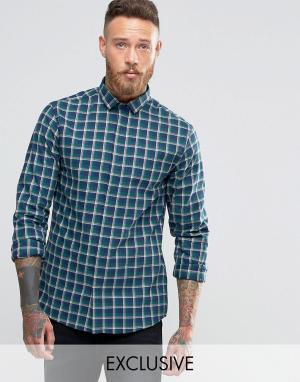 Heart & Dagger Рубашка с воротником широко расставленными углами. Цвет: темно-синий
