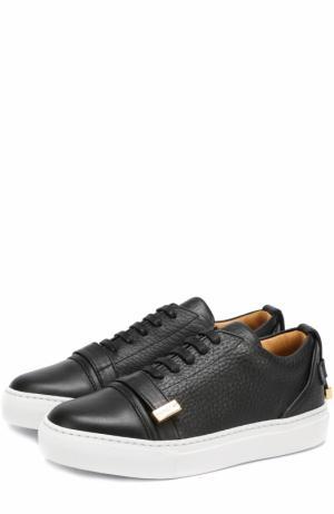 Кожаные кеды на шнуровке Buscemi. Цвет: черный