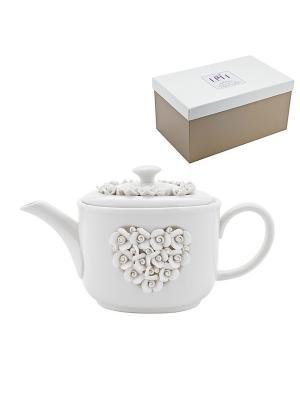 Чайник Italy Design Elff Ceramics. Цвет: белый