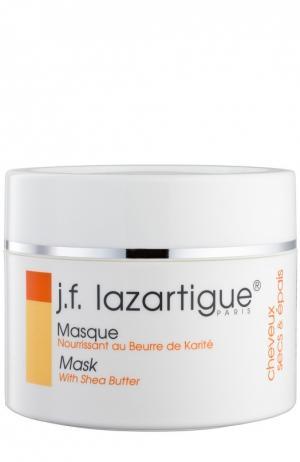 Маска-крем питательная с маслом ши (карите) J.F. Lazartigue. Цвет: бесцветный