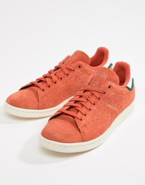 Adidas Originals Оранжевые кроссовки Stan Smith CQ3091. Цвет: оранжевый