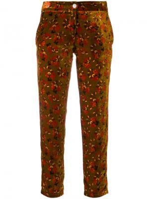 Укороченные брюки с цветочным принтом Roseanna. Цвет: жёлтый и оранжевый