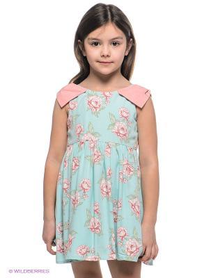Платье Viaggio bambini. Цвет: голубой, розовый