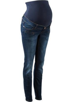 Узкие джинсы для беременных (темно-синий) bonprix. Цвет: темно-синий