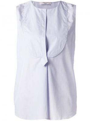Блузка без рукавов с панелью-нагрудником Atlantique Ascoli. Цвет: синий