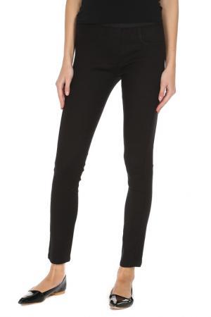 Облегающие брюки стрейч Alysi. Цвет: черный