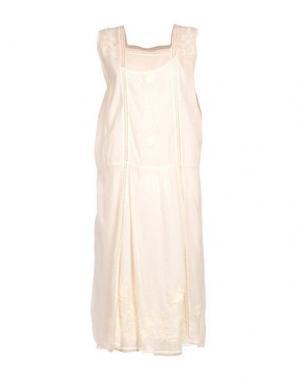 Платье до колена LOCAL APPAREL. Цвет: слоновая кость