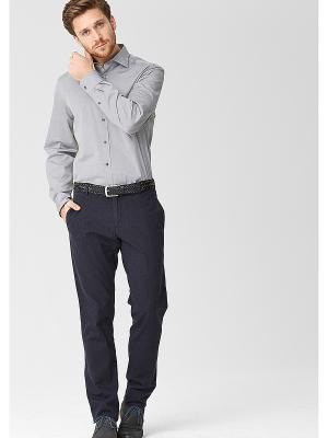 Рубашка S.OLIVER. Цвет: серебристый, сиреневый, светло-серый
