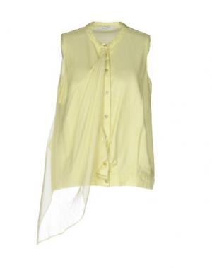 Pубашка OBLIQUE CREATIONS. Цвет: кислотно-зеленый