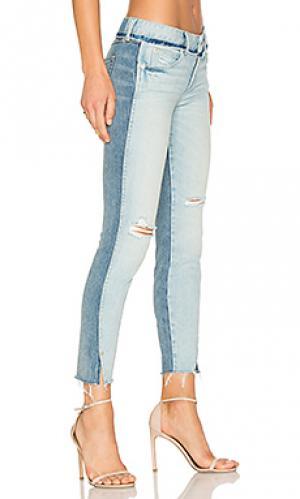 Узкие джинсы в двух тонах twist AMO. Цвет: none