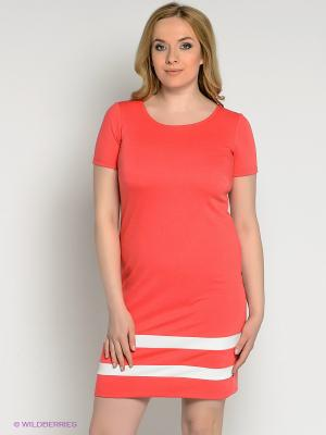 Платье Alego. Цвет: коралловый, белый