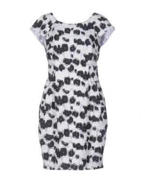Платье до колена TALBOT RUNHOF. Цвет: белый
