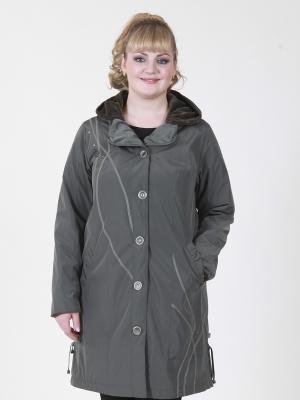 Пальто Нелли VIKO. Цвет: оливковый