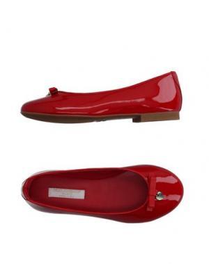 Балетки DOLCE & GABBANA. Цвет: красный