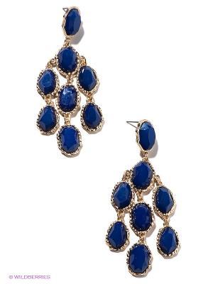 Серьги Taya. Цвет: синий, золотистый