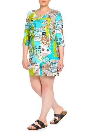 Платье домашнее LAVELLE. Цвет: бирюзовый