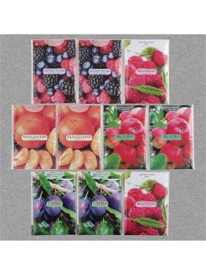 Аромасаше  Фруктово-ягодный букет, 8 штук: 3 аромата по 2 шт и 1 Индокитай. Цвет: сиреневый