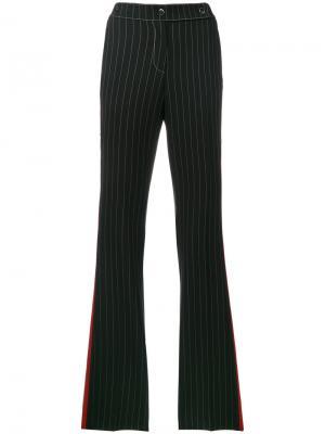 Расклешенные брюки с лампасами Marco De Vincenzo. Цвет: многоцветный