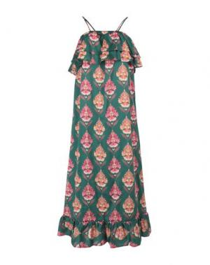 Длинное платье VICOLO. Цвет: зеленый