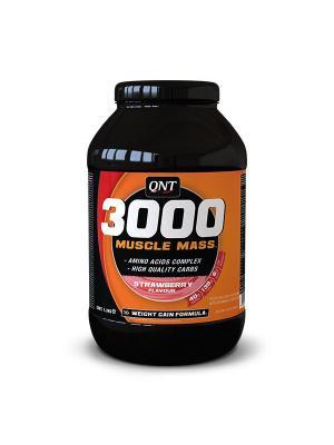 Гейнер QNT Muscle Mass 3000 (клубника),4,5 кг. Цвет: черный