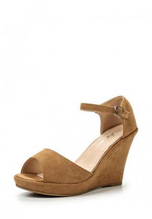Босоножки Style Shoes. Цвет: коричневый