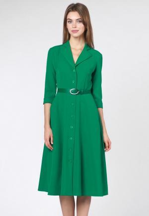 Платье OKS by Oksana Demchenko. Цвет: зеленый