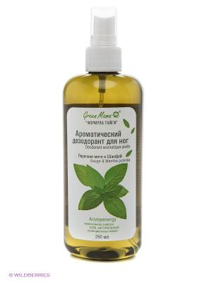 Ароматический дезодорант для ног Перечная мята и шалфей Green mama. Цвет: прозрачный