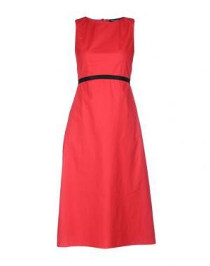 Платье длиной 3/4 FABRIZIO LENZI. Цвет: кирпично-красный