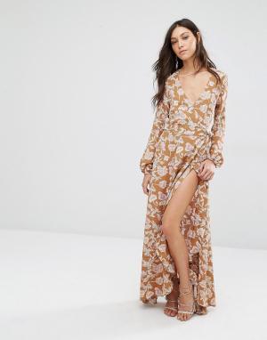 Flynn Skye Платье макси Monterry. Цвет: мульти