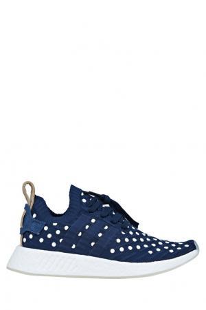 Кроссовки NMD_R2 Primeknit Adidas. Цвет: синий