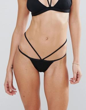 Minimale Animale Черные плавки бикини с лямками. Цвет: черный