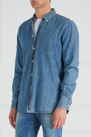 Джинсовая рубашка Dondup. Цвет: голубой