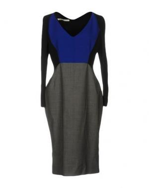 Платье до колена AQUILANO-RIMONDI. Цвет: свинцово-серый