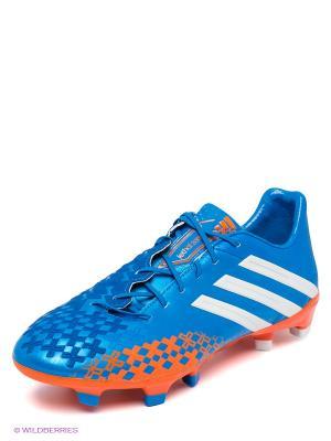 Бутсы Adidas. Цвет: синий, оранжевый, белый