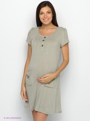 Платье UNIOSTAR. Цвет: серый