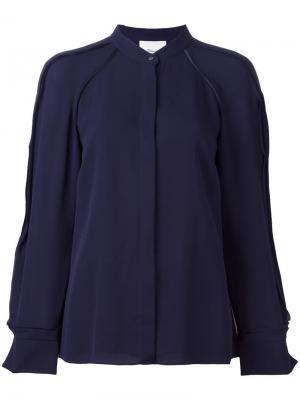 Блузка с круглым вырезом 3.1 Phillip Lim. Цвет: синий