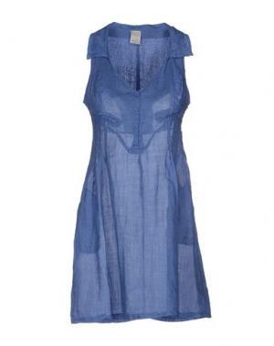 Короткое платье YES ZEE by ESSENZA. Цвет: грифельно-синий